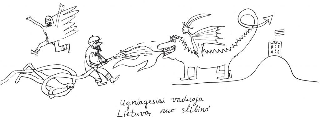 Ugniagesiai vaduoja Lietuvą nuo slibino